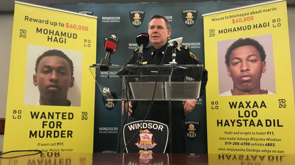 Police are offering a reward of up to $60,000 to catch Mohamud Hagi. (Rich Garton / CTV Windsor)
