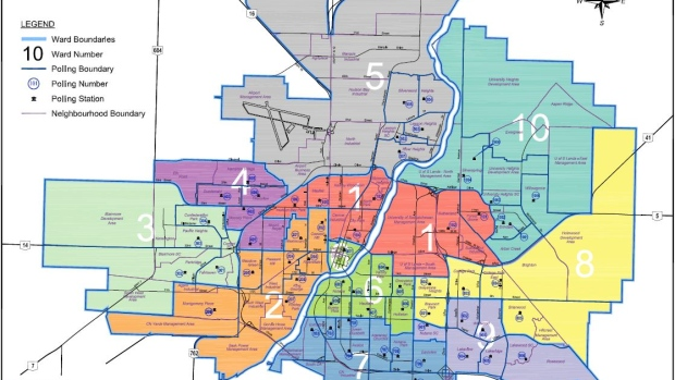 Saskatoon civic boundaries