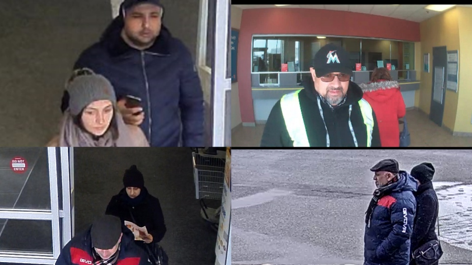 Police are looking for these people in connection to a number of distraction-related thefts. (Source: WRPS)