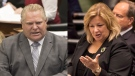 Ontario Premier Doug Ford and Education Minister Lisa Thompson at Queen's Park. (The Canadian Press)