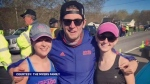Rochelle Myers (right) was the first in the family to complete the Boston Marathon in 2015. Her effort inspired her brother Glenn and sister Suzanne to train hard enough to qualify for this year's race. (COURTESY THE MYERS FAMILY).