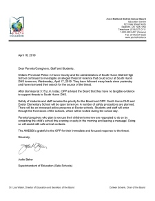 Threat letter update