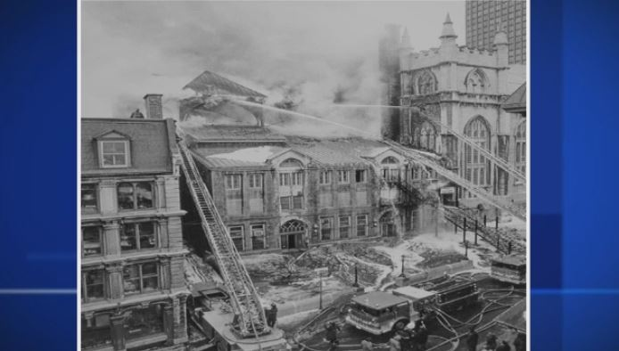In 1978, the Sacre Coeur Chapel inside Notre Dame Basilica was heavily damaged.