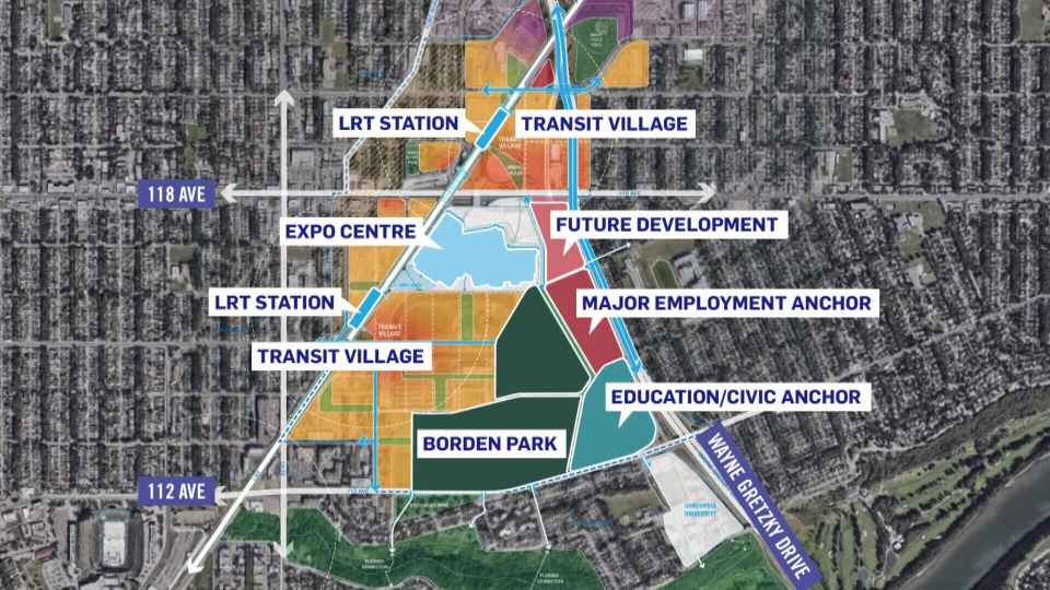 If a plan by the city goes forward, the land of the former exhibition grounds would be rejigged into a transit-oriented community.