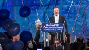 United Conservative Party leader Jason Kenney addresses supporters in Calgary, Alta., Tuesday, April 16, 2019.THE CANADIAN PRESS/Jeff McIntosh