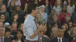 Trudeau fields questions at Cambridge town hall