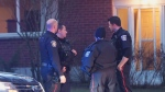 Halton Regional Police officers respond to a phony 911 call about a shooting in Burlington.