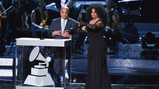 Berry Gordy, left, and Diana Ross