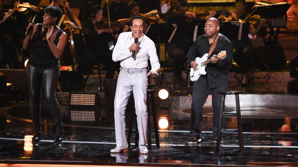 In this Feb.12, 2019 file photo, Smokey Robinson performs during Motown 60: A GRAMMY Celebration at the Microsoft Theater in Los Angeles. (Photo by Richard Shotwell/Invision/AP, File)