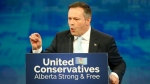 United Conservative Party leader Jason Kenney addresses supporters in Calgary, Tuesday, April 16, 2019. THE CANADIAN PRESS/Jeff McIntosh