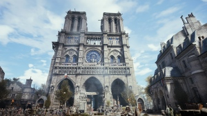 A 3D model of Notre Dame Cathedral in Paris for the video game Assassin's Creed Unity is shown in a handout photo. (THE CANADIAN PRESS/HO-Ubisoft)