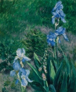 "'Iris bleus, jardin du Petit Gennevilliers,' a painting by French artist Gustave Caillebotte, is shown in a handout photo. The Federal Court of Appeal has ruled that a work by an international artist can be deemed to be of ""national importance"" to Canadian heritage. THE CANADIAN PRESS/HO-Heffel Fine Art Auction House"