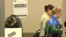 People voting during the 2019 Alberta election.