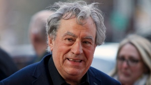 "This April 24, 2015 file photo shows Terry Jones at a special Tribeca Film Festival screening of ""Monty Python and the Holy Grail"" in New York. (Photo by Andy Kropa/Invision/AP, File)"
