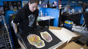 Tattoo artist's skin preserved, put on display