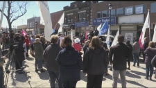 Cupe Hospital sector rally in North Bay