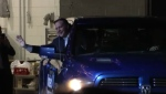 Jason Kenney enters campaign party in pickup