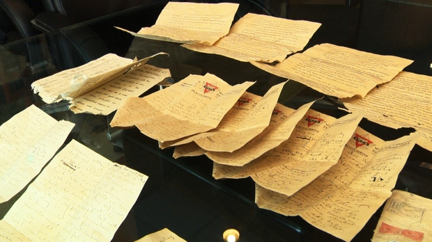 Love letters from 100 years ago found in the historic Paris building in Winnipeg (CTV Winnipeg)
