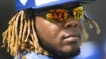 Toronto Blue Jays infielder Vladimir Guerrero Jr. in Dunedin, Fla., on February 18, 2019. (Nathan Denette / THE CANADIAN PRESS)