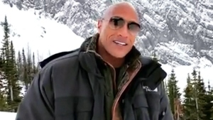 Dwayne 'The Rock' Johnson filming in Calgary