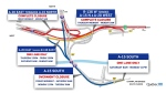 Easter weekend will bring several closures to the Turcot Interchange. (Graphic: Transport Quebec)