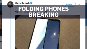Tech journalists report Galaxy Folds are breaking