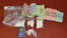 Chatham-Kent police seized drugs and money on Tuesday, April 16, 2019. (Courtesy Chatham-Kent police)