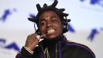 In this Aug. 27, 2017 photo, Kodak Black arrives at the MTV Video Music Awards at The Forum in Inglewood, Calif. (Photo by Jordan Strauss/Invision/AP, File)