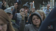 Candlelight vigil held for shooting victims
