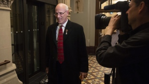Clerk of the Privy Council Michael Wernick arrives for caucus in West Block on Parliament Hill in Ottawa, Tuesday, April 2, 2019. Wernick announced his impending departure in a letter to Prime Minister Justin Trudeau in mid-March, saying he would leave prior to the fall election campaign. THE CANADIAN PRESS/Adrian Wyld