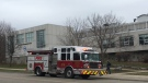 Firefighters responded to the fire at Eastwood Collegiate on Thursday. (Dan Lauckner / CTV Kitchener)