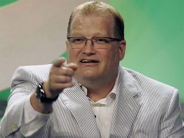 Drew Carey talks during the CBS Summer Press Tour in Beverly Hills, Calif. Thursday, July 19, 2007. (AP / Nick Ut)