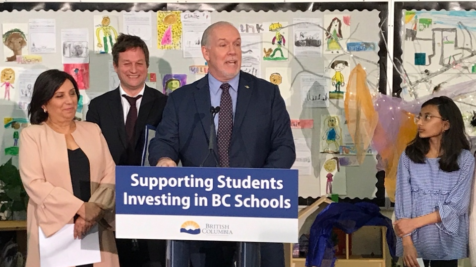 Horgan announces Surrey school expansion