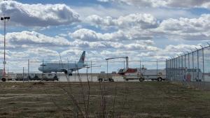 An Air Canada flight headed to Winnipeg had to make an emergency landing in Regina (Twitter: John Hill)
