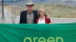 John Kidder and Elizabeth May will wed Monday, April 21, in what May describes as a 'low-carbon affair.' (Twitter/@CanadianGreens)
