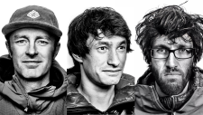 Jess Roskelley (left), David Lama (middle) and Hansjorg Auer (right) are seen in these undated photos. Courtesy: The North Face