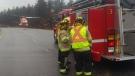 ORNGE lands on Highway 11 in Gravenhurst for a serious collision on Thursday, Apr. 18, 2019 (Gravenhurst Fire/Twitter)