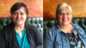 Half-sisters Michele Gibson, left, and Debbie Walsh met for the first time after connecting through Ancestry.ca.