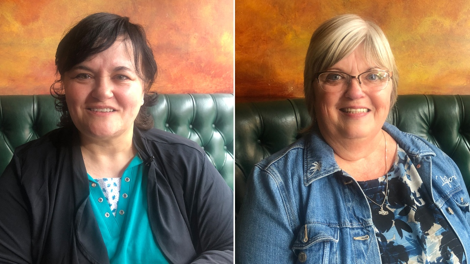 These sisters met for the first time today after connecting online following DNA testing.