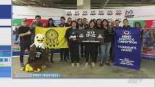 Wikwemikong High School wins the Chairman's Award at provincial robotics competition.