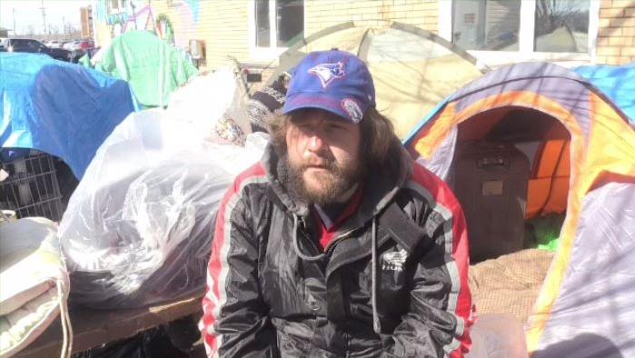 """It just reminded me of tent city last year, but without the bulldozers,"" said Ryan George."