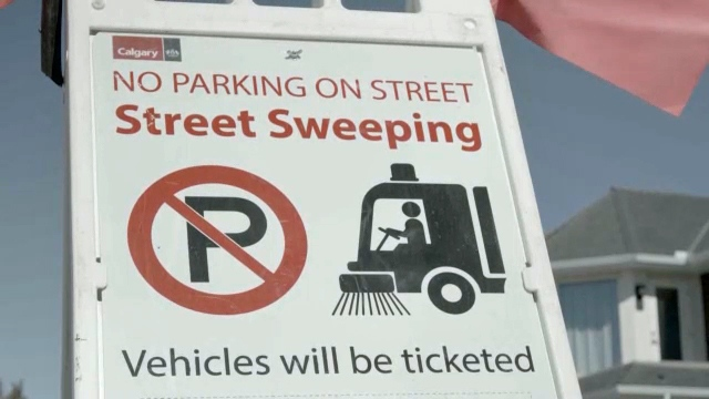City of Calgary street sweeping parking ban