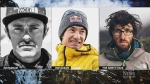 American Jess Roskelley and Austrians David Lama and Hansjorg Auer are seen in this composite photo.