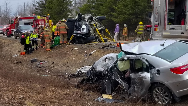 Woman killed in head-on collision on New Brunswick highway | CTV