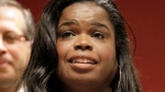 In this Dec. 2, 2015, file photo, Kim Foxx, then a candidate for Cook County state's attorney, speaks at a news conference in Chicago. (AP Photo/M. Spencer Green, File)