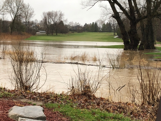 Greenhills Golf Club is dealing with extreme flooding on the course on Friday, April 19, 2019. (Source: Daryl Sinden of Greenhills)