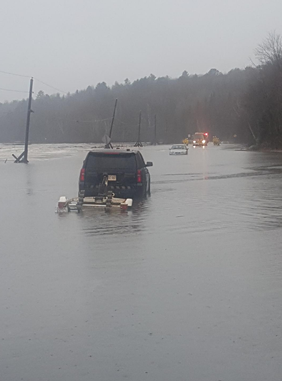 OPP save couple from vehicle on flooded road on April 19, 2019. (Photo Credit: OPP)