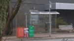 Two men were arrested after a man was stabbed Friday night at a Halifax bus stop.