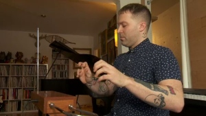 Aleks Schurmer, Montreal's only Theramin teacher, demonstrates how to play the hands-free instrument, which is celebrating its 100th birthday in 2020.
