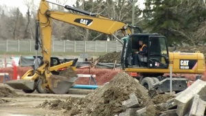 Construction at the intersection of 14th Street and 90th Avenue SW has prompted the Easter weekend closure of 14th Street between Southland Drive and Heritage Drive